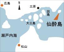 日本の島再発見_広島県_仙酔島_地図