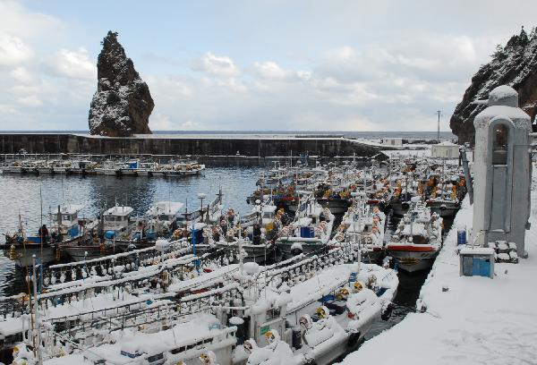 地球の島めぐり_韓国_鬱陵島_冬のチョドン港-冬景色の写真は全て文化観光化の撮影