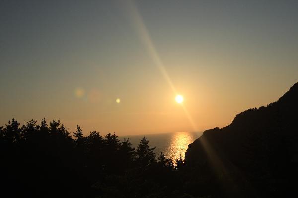 地球の島めぐり_韓国_鬱陵島_鬱陵島の初めての夕日