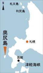 日本の島再発見_北海道_奥尻島_地図