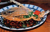 日本の島再発見_鹿児島県_屋久島_とび魚の空揚げ「本富亭(もっちゃむてい)」