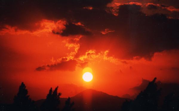 アギア・ナパの夕日