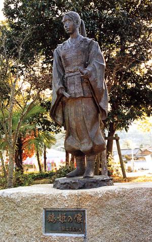 日本の島再発見_愛媛県_越智諸島_大三島_鶴姫の像
