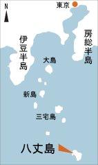 日本の島再発見_東京都_伊豆諸島_八丈島_地図