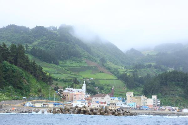 地球の島めぐり_韓国_鬱陵島_沙洞の街