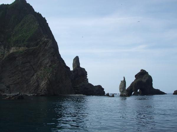 地球の島めぐり_韓国_鬱陵島_独島の東島から撮影