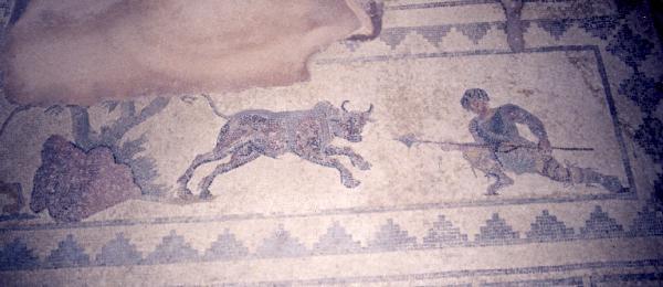 クーリオン古代遺跡 モザイク画