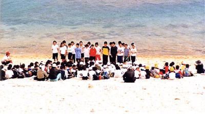 日本の島再発見_鹿児島県_奄美群島_徳之島_喜念浜(横笛の演奏する子供たち)