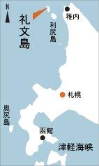 日本の島再発見_北海道_礼文島_地図