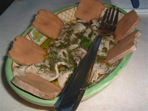 イタリア共和国 ファヴィニャーナ島の料理