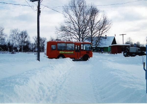 ロシア サハリン島(樺太) 雪国