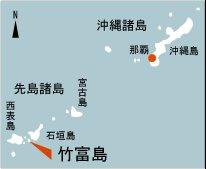 日本の島再発見_沖縄県_八重山諸島_竹富島の地図
