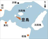 日本の島再発見_香川県_直島諸島_豊島_地図