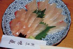 日本の島再発見_長崎県_対馬島_カンパチの刺身(割烹味感)