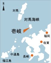 日本の島再発見_長崎県_壱岐島_地図