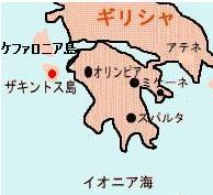 ザキントス島 地図